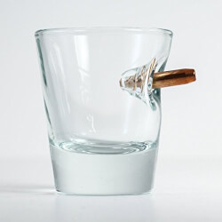 The Original BenShot Shot Glass with Real 0.308 Bullet