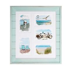 Seaside Wood Plank Collage Frame