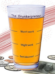 The Brainstorming Beer Glass