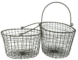 Rustic Metal Wire Baskets