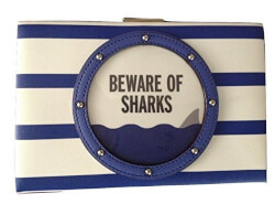 Kate Spade Beware of Sharks Clutch