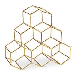 Decorative Golden Metal Wine Rack
