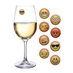 Emoji Wine Charms