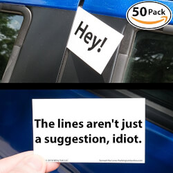 Witty Yetis Bad Parking Business Cards
