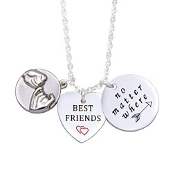 Best Friends No Matter Where Compass Necklaces