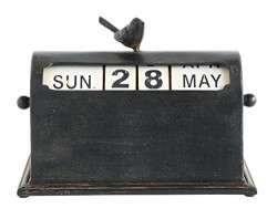 Metal Bird Perpetual Calendar