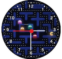 Pac Man Video Game Wall Clock