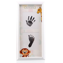 Framed Baby Handprint and Footprint Kit