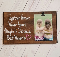 Long Distance Friends or Relationship Photo board