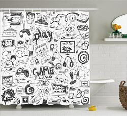 Video Games Shower Curtain