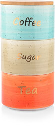 Ceramic Canister Set For Coffee Tea Sugar