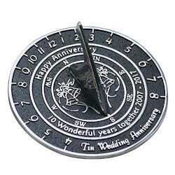 Handmade Tin Anniversary Sundial