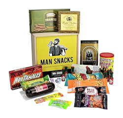 Manly Snacks in Wooden Box