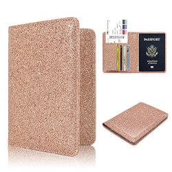 Rose Gold Leather Passport Holder